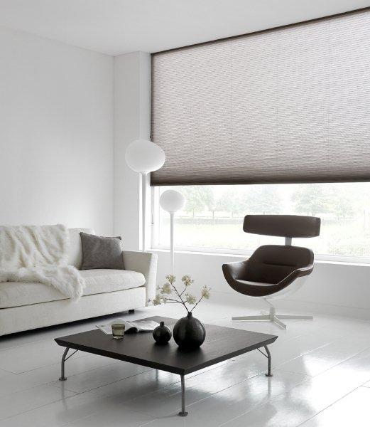Pliss u00e9  en Duette gordijnen breed inzetbaar voor speciale ramen   Schmitz Engelen