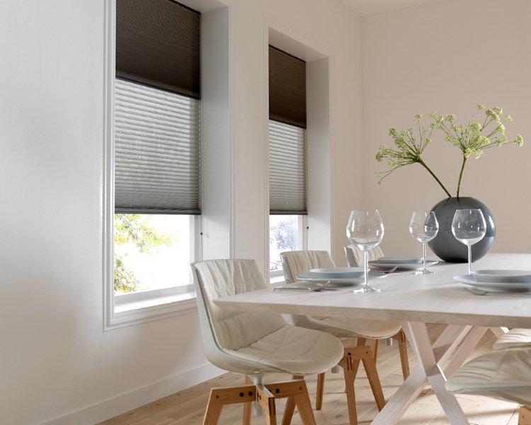 Plissé en duette gordijnen breed inzetbaar voor speciale ramen